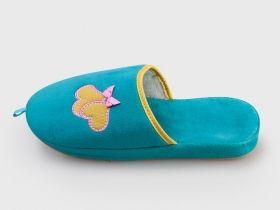 Дамски домашни пантофи Булдозер в син цвят